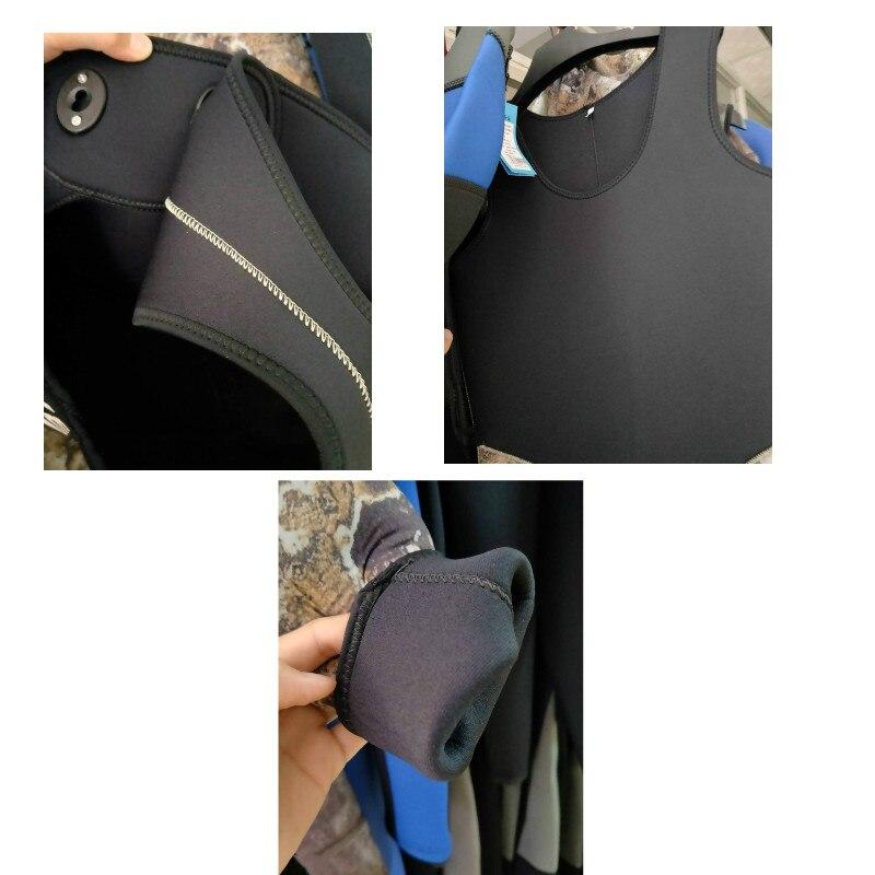 5mm Neopreen Twee Stuks Volledige Pak Mannen Plus Size Duiken Wetsuit Warm Houden Blind Stiksels Jumpsuit Surfen Pak Camouflage groene h2 - 6