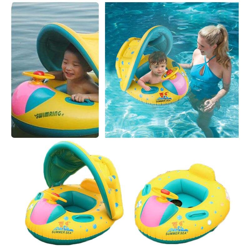 Inflatable Toddler Children Baby Swim Ring Shade Swimming Pool Water ...