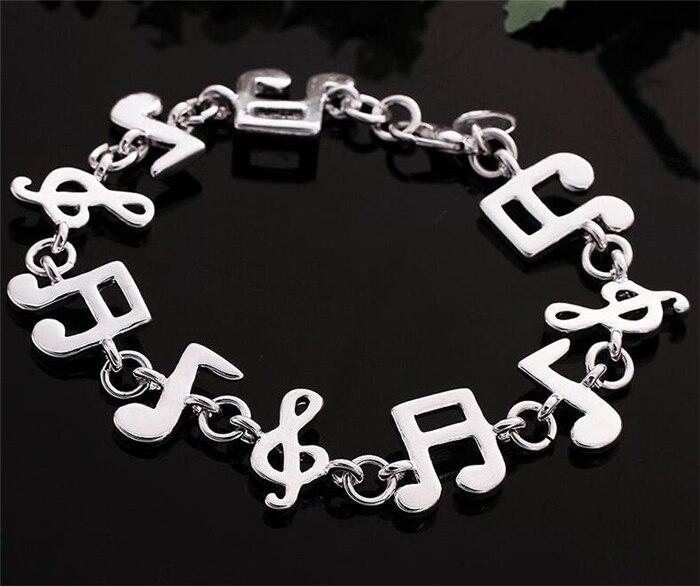 Brand Bracelet 925 Silver Bracelet 925 Silver Jewelry Music Note
