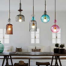 Modern Stained Candy Pendant Lights Led Glass Pendant Lamp Living Room Restaurant Decoration Lighting Kitchen Fixtures Luminaire mediterranean tiffany pendant lights stained glass lamp light for kitchen home decor lighting fixtures vintage led luminaire