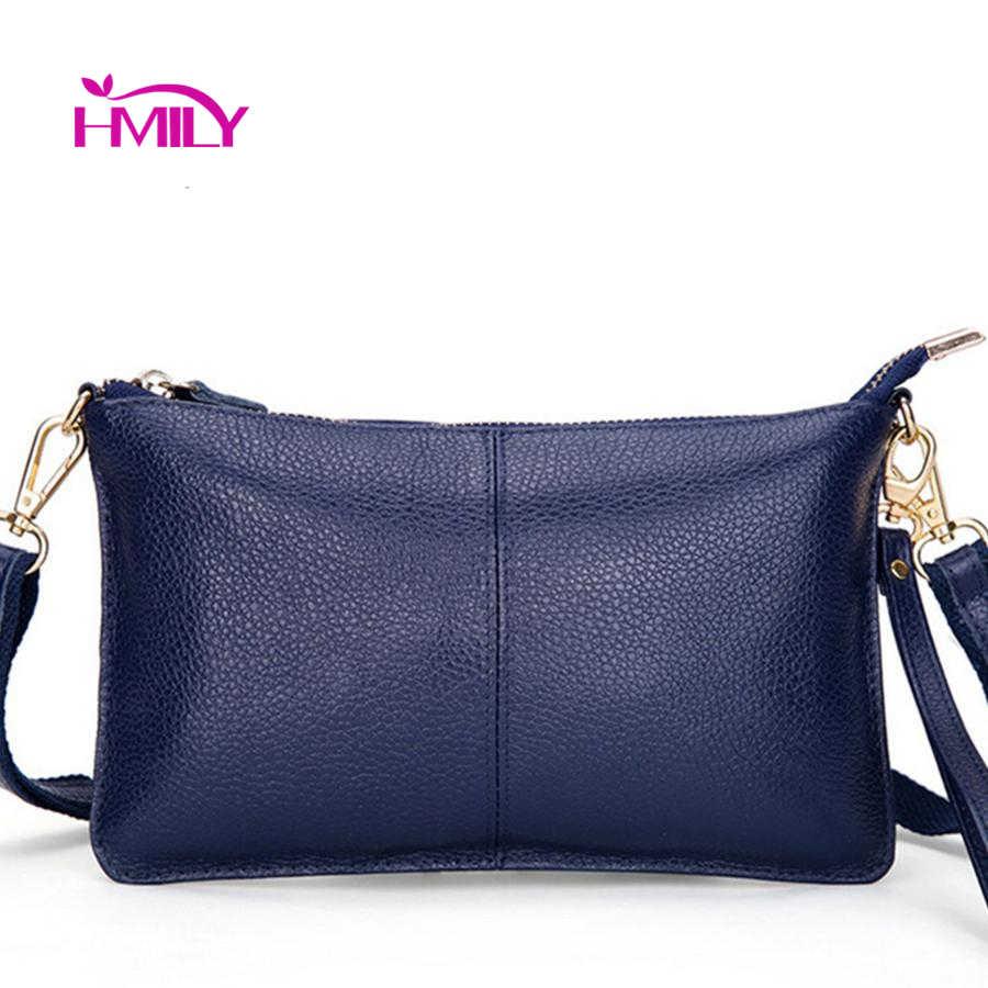 HMILY Frauen Messenger Taschen Aus Echtem Leder Damen Models Umhängetasche Zehn Farbe frauen Abendtasche Trendy Mini Tasche