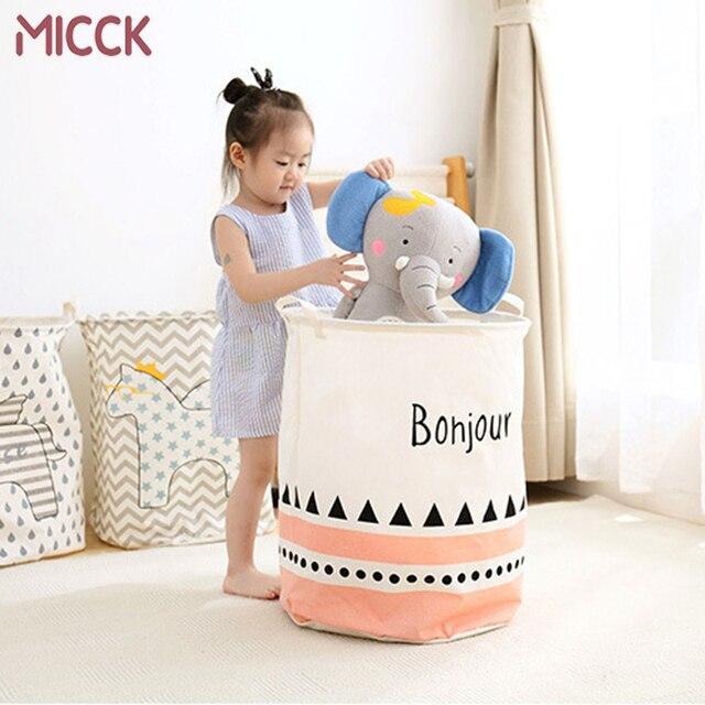 MICCK Cesto de roupa Dos Desenhos Animados Grande Capacidade De Dobrar Roupa Cesta de Piquenique À Prova D' Água Crianças Brinquedo Caixa de Acabamento De Armazenamento Orgnizer