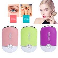 2019 USB Mini ventilador de pestañas secador de aire soplador de pegamento de secado rápido falso pestañas extensión máscara secador portátil herramientas de maquillaje arte de uñas