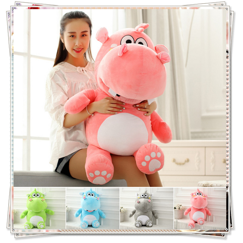 Hippo pillow stuffed toy unicorn kawaii kids toys mattress plush soft toys for bouquets kid toys animals  valentine day gifts stuffed plush animals shaun the sheep funny unicorn soft oyuncak knuffel anime figurines stuffed cotton 50a0116