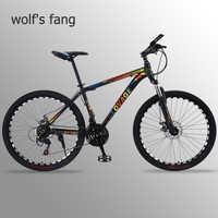 Wolf's fang VTT 21 vitesses vélo 26 gros vélos route vélo alliage d'aluminium résistance caoutchouc homme vélos livraison gratuite