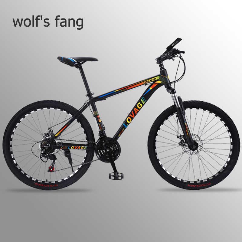 Горный велосипед wolf's fang, 21 скоростной велосипед, 26 полных велосипедов, дорожный велосипед из алюминиевого сплава, резиновые мужские велосипеды, бесплатная доставка