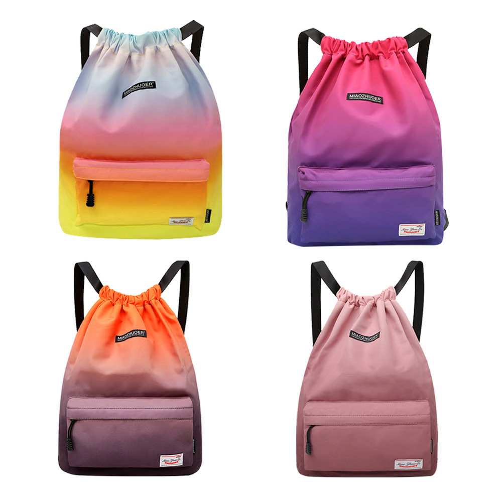 Gym Bag Waterproof Drawstring Backpack Sports Bag For Women Girls 2019 Outdoor Travel Bags For Gym Training Swimming Fitness Bag