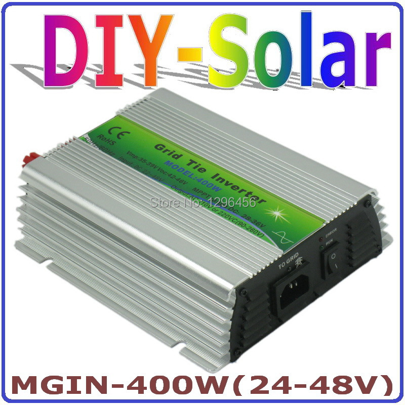 solar system 2017New!! DC24~48V MGI 400W Grid Tie Inverter for Solar Panel 36V/72 Cells, 90-260VAC Pure Sine Wave Inverter 400W micro inverters on grid tie with mppt function 600w home solar system dc22 50v input to ac output for countries standard use