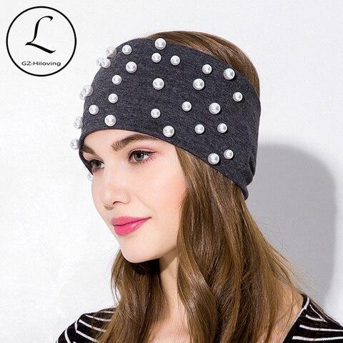 Acessórios para o Cabelo Larga de Alta Gzhilovingl Nova Moda Sólida Algodão Headbands Pérola Headband Headwear Elástica Qualidade 2020 Cor