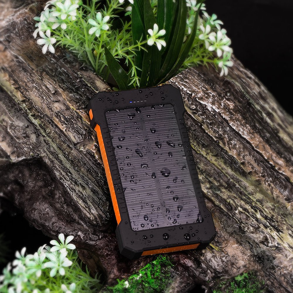 Waterproof Solar 30000mAh Solar Power Bank Charger 2 USB Ports External Charger Powerbank for Xiaomi with LED Light 10