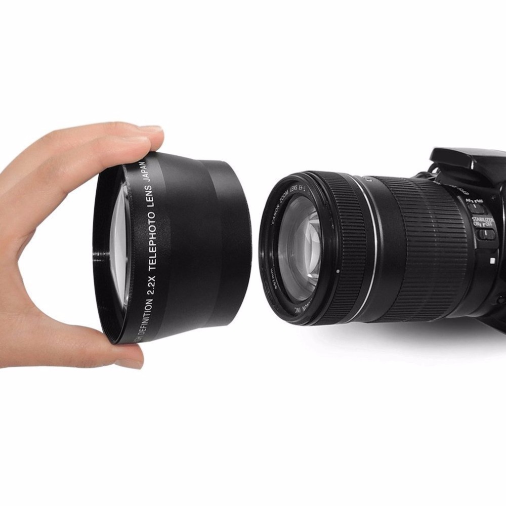 Objectif téléobjectif 67mm 2.2x pour Canon EOS 550D 600D 650D 700D 60D 70D 18-135mm pour objectif Nikon 18-105mm