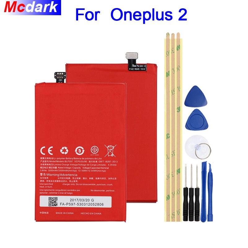 Mcdark 3200/3300 mah BLP597 Batterie Pour Oneplus 2 Un Plus 2 Deux Batterie Bateria Accumulateur AKKU ACCU PIL mobile Téléphone + Outils