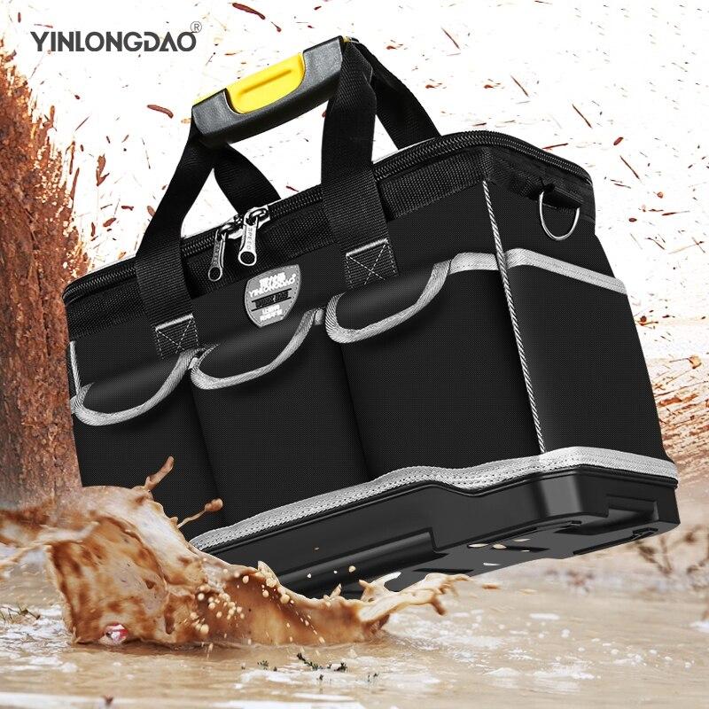 13 15 17 19 Upgrade Large Capacity Hand Tool Bag Multi-function Men Crossbody Tool Storage Bag Pouch Home Repair Toolkit Tool Organizers