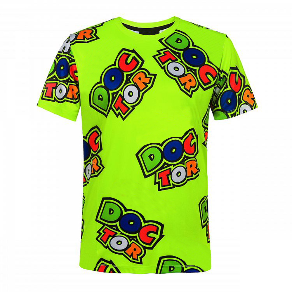 The Moto Off-Road Dirt Bike All Over Doctor T-shirt For Men Fluorescent Gp Green T-shirt