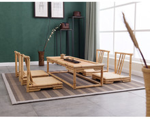 Hand Crafted Modern Rattan Bamboo Furniture Floor Table Japanese Style Tatami Coffee/Tea Living Room Furniture Bamboo Tea Table(China)