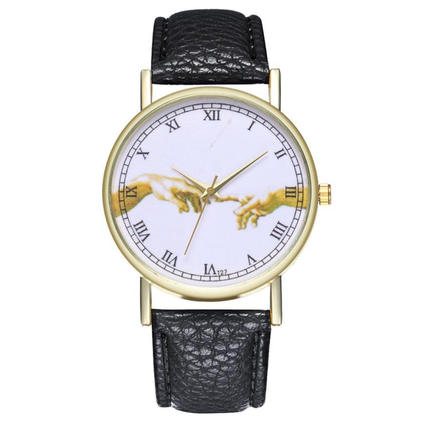 Women Watches Bracelets Relojes Mujer 2019 Fashion Leather Band Analog Quartz Round Wrist Watch Watches Gift Relogio Feminino