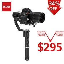цена на ZHIYUN Official Crane V2 3-Axis Handheld Gimbal  360 Degree Stabilizer for DSLR Camera for Sony A7/Panasonic LUMIX/Nikon/Canon M