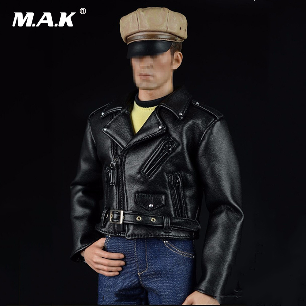 1:6 Scale Locomotive Cloth Hippie Motorcycle BlackLeather Coat & Jeans Trousers & Hat & Boots Set for 12 Male Action Figure в магазине духи escada ibiza hippie