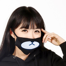 Fashion Black Anti-Dust Cotton lovely Bear Masks Anime Cartoon  Lucky Women Men Muffle Mouth