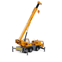 1:50 alloy big crane engineering transport truck crane children's toy car model engineering car W107