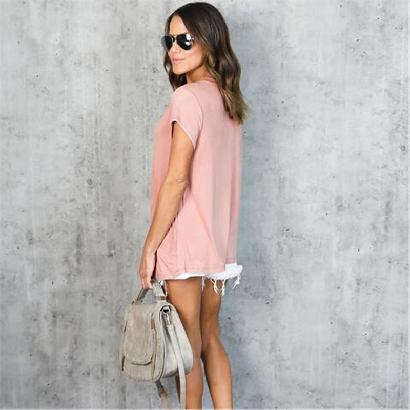 HTB1sDxnQFXXXXXQXVXXq6xXFXXX7 - Women Fashion T-Shirts Summer Cotton Short Sleeve Casual