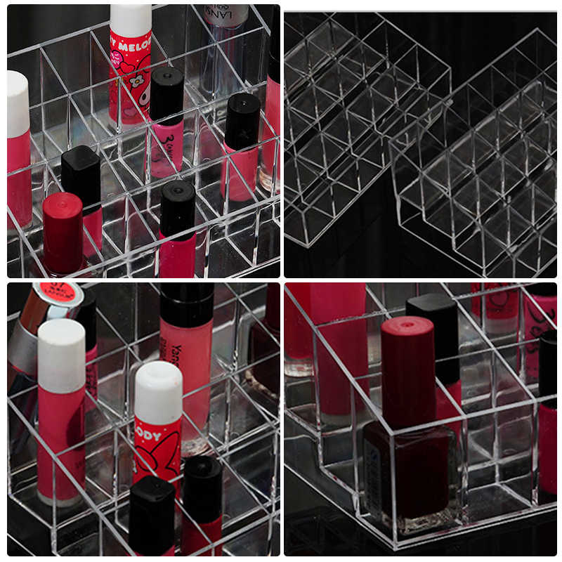 24 Grid Makeup Organizer Storage Box lipstick holder Cosmetic Box Jewelry Box Holder Display Stand make up organizer New