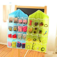 Newest Arrival Clear Socks Cosmetic Toy Underwear Sorting Storage Bag Door  Wall Hanging Closet Organizer(