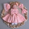 Baby Mädchen Taufe Kleid Mit Hut Bogen Kleid Ball Rosa Formale Taufe Kleidung 2020 Neue Baby Mädchen Taufe Kleider ABF164708-in Kleider aus Mutter und Kind bei