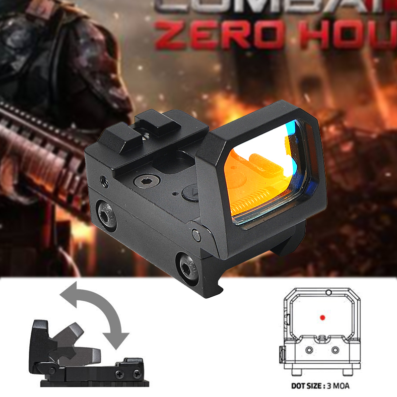 Tactical Fold Red Dot Reflex Sight 3 MOA Riflescope Holographic Sight Hunting Scopes Fit 20mm Pictinny