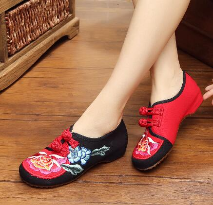2016 Old Beijing cloth font b shoes b font embroidered font b shoes b font font