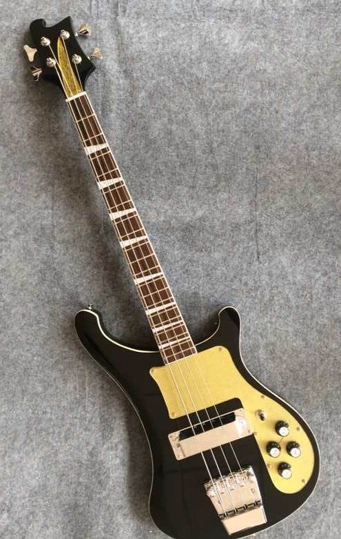 wholesale 4004 bass model rick r 4 strings electric bass guitar through neck 4003 in black. Black Bedroom Furniture Sets. Home Design Ideas