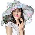 Las mujeres Sombrero de Organza de Boda de La Iglesia Derby Playa Partido de Tarde Del Coctel Casquillo del Sol de verano de La Vendimia Vestido de Fedora de Ala Ancha Bufanda Con sombrero