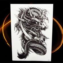 3D Dinosaur Temporary Tattoo For Women Arm Leg Men Fake Tatoo Waterproof Jurassic Body Art Temporary Tattoo Sticker Dragon