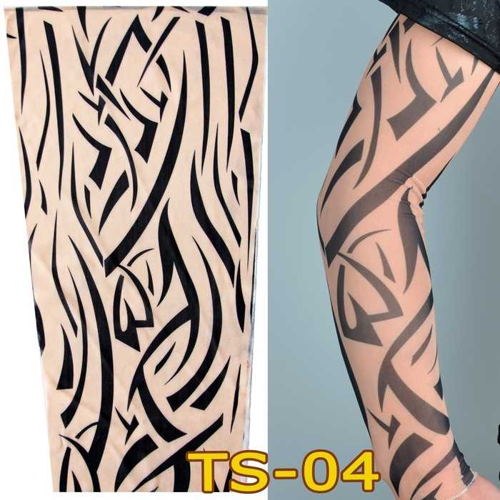 38b07e4deac ... 1pc tattoo sleeve elastic Fake Arm stockings Tribe design Sun totem  wolf dragon tiger Brown skin ...