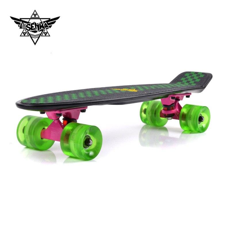 Planche à roulettes quatre ronde double Alice mini Skateboard planche à roulettes 56 cm mini route petit éclisse brosse rue conseil
