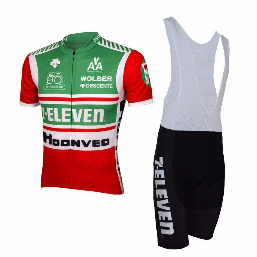 2017 7-Eleven Retro Men Short Sleeve Cycling <font><b>Set</b></font> Clothing Breathable Bike Jerseys Clothes Maillot Ropa Ciclismo Cycling Jerseys