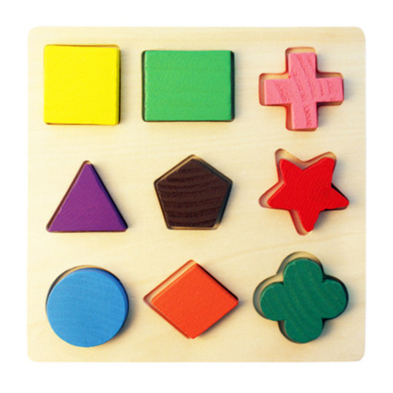 Wooden Geometric Shapes Sorting Math Montessori Puzzle Preschool Learning Educational Game Baby Toddler Toys for Children Wood in Puzzles from Toys Hobbies