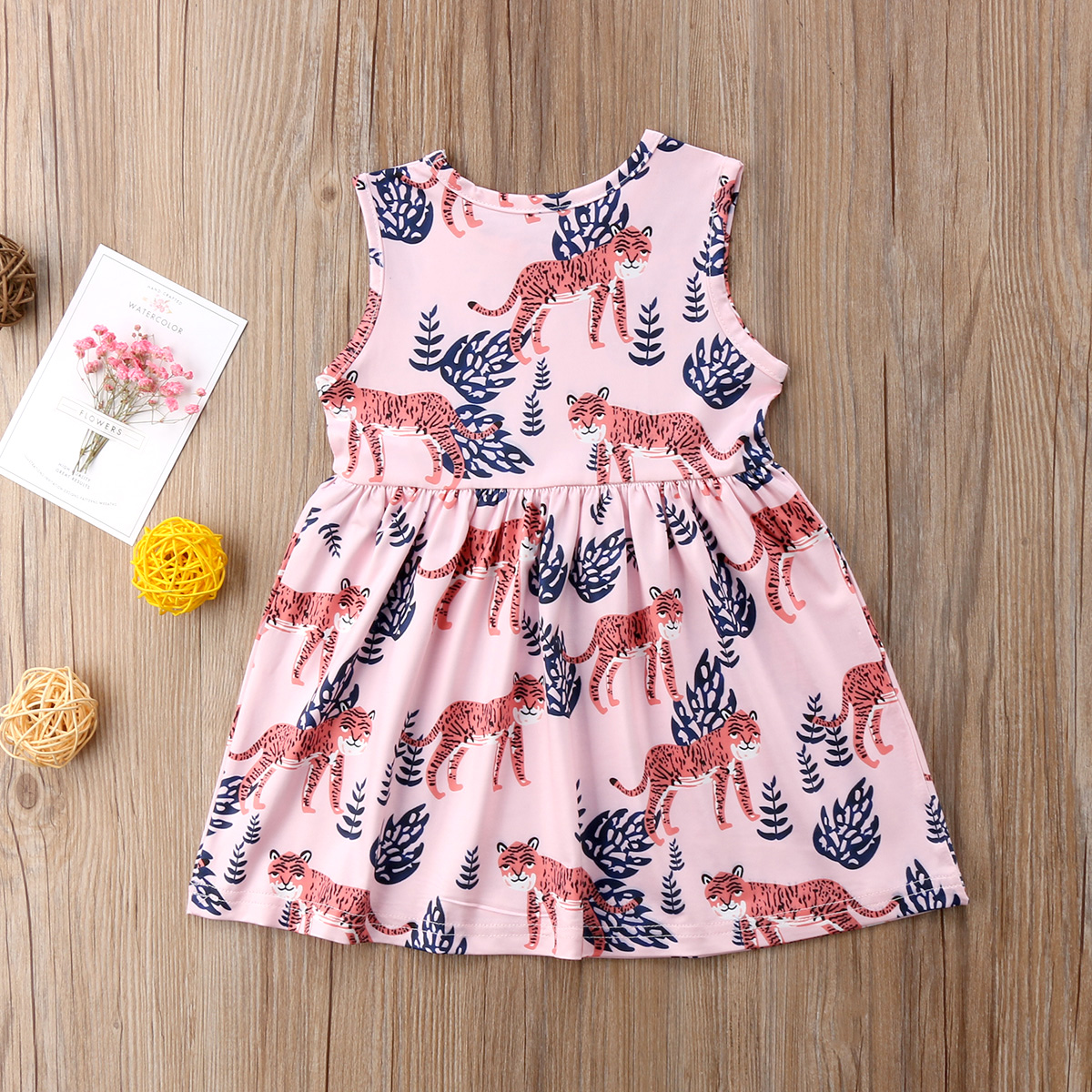 ad9d01b200 Cute Kids Baby Girls Princess Dress Tiger Print 2018 Summer New Sleeveless  Wedding Party Tulle Dress Tutu Sundress-in Dresses from Mother   Kids on ...