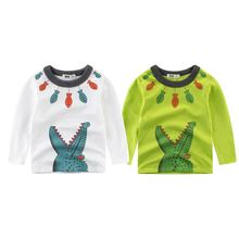 Children Casual Clothing Kids Girl T Shirt Long Sleeve T-Shirt Cotton Girl Top Tees Child Clothing Kids Outwear Tops Boy Clothes недорого