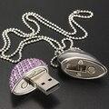 Ювелирные Изделия Хрустальное Сердце USB flash pen drive memory stick 4 ГБ 8 ГБ 16 ГБ 32 ГБ подарки для девушки любовник 100% реальные емкость