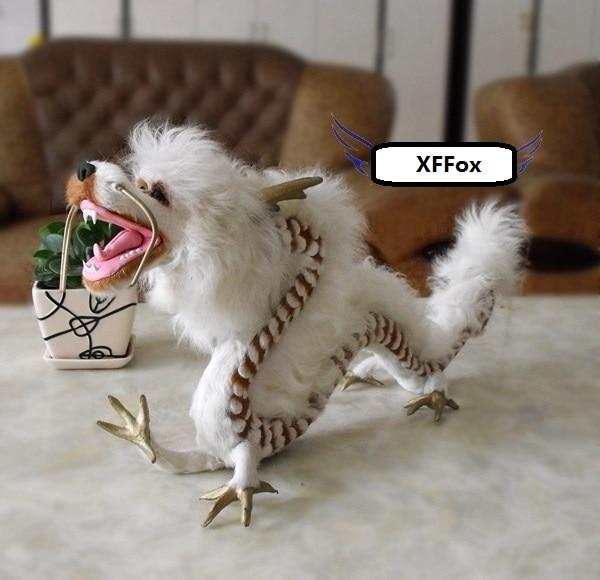 Grande nuova simulazione modello di drago di plastica e di pelliccia bianco regalo drago circa 55x10x28 cmGrande nuova simulazione modello di drago di plastica e di pelliccia bianco regalo drago circa 55x10x28 cm