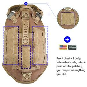 Image 5 - Taktyczne szelki nylonowe dla psa wojskowe K9 pracy kamizelka dla psa nie ciągnąć treningowe dla zwierząt domowych kamizelka myśliwska dla średnich i dużych psów owczarek niemiecki