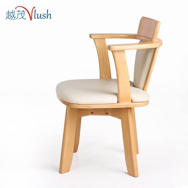 The More Luxuriant Wooden Chair Rotating Chair Backrest Creative Hotel Low Back  Chair Computer Chair