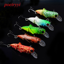 POETRYYI 55mm Grasshopper insects Fishing Lures Wobbler Lure hard bait Lifelike Artificial baits Bass Jerkbaits Swimbait Pesca
