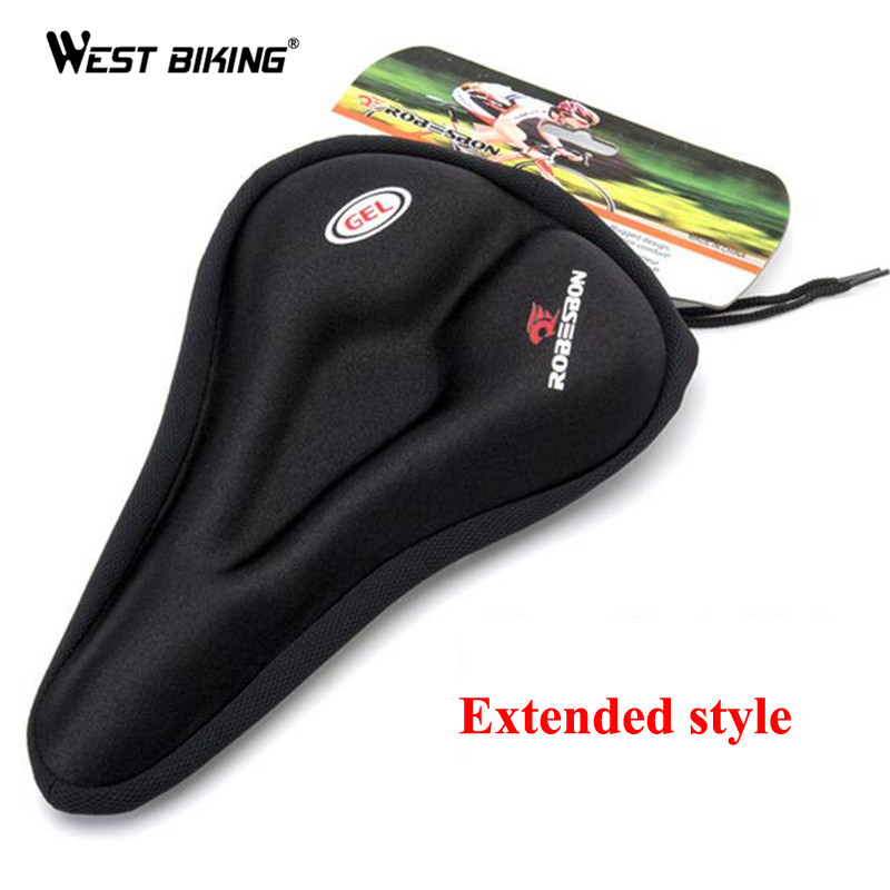 MTB Cycling Bicycle Silicone Saddle Pad Bicycle Soft Seat Case Road Thickened Silica Gel Cushion Seat Cover Pad For Bike west biking bicycle saddle skidproof seat silica gel cushion breathable sillin bicicleta mtb road bike cycling bicycle saddle