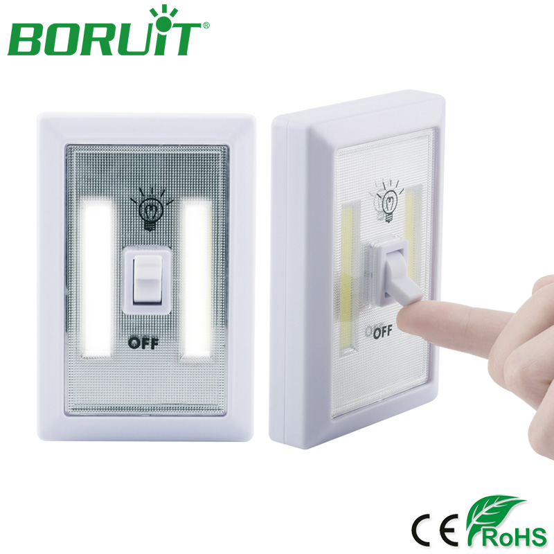 BORUiT Magnetic LED Cabinet Light with Switch Wireless Wardrobe Nightlight Cupboard Closet Light for Bedroom Kitchen Lighting ...