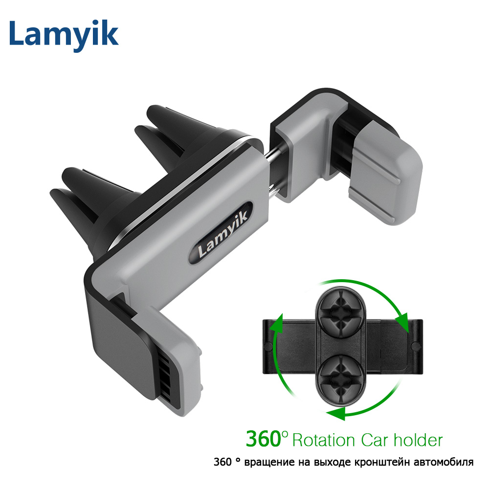 Universal Car Holder Double Mount Clips 360 Rotation Smartphone GPS Holder Stand Cradle for Samsung