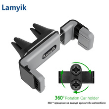 Universal Car Holder Double Mount Clips 360 Rotation Smartphone GPS Holder Stand Cradle for Samsung Note 8 Air Vent Phone Holder