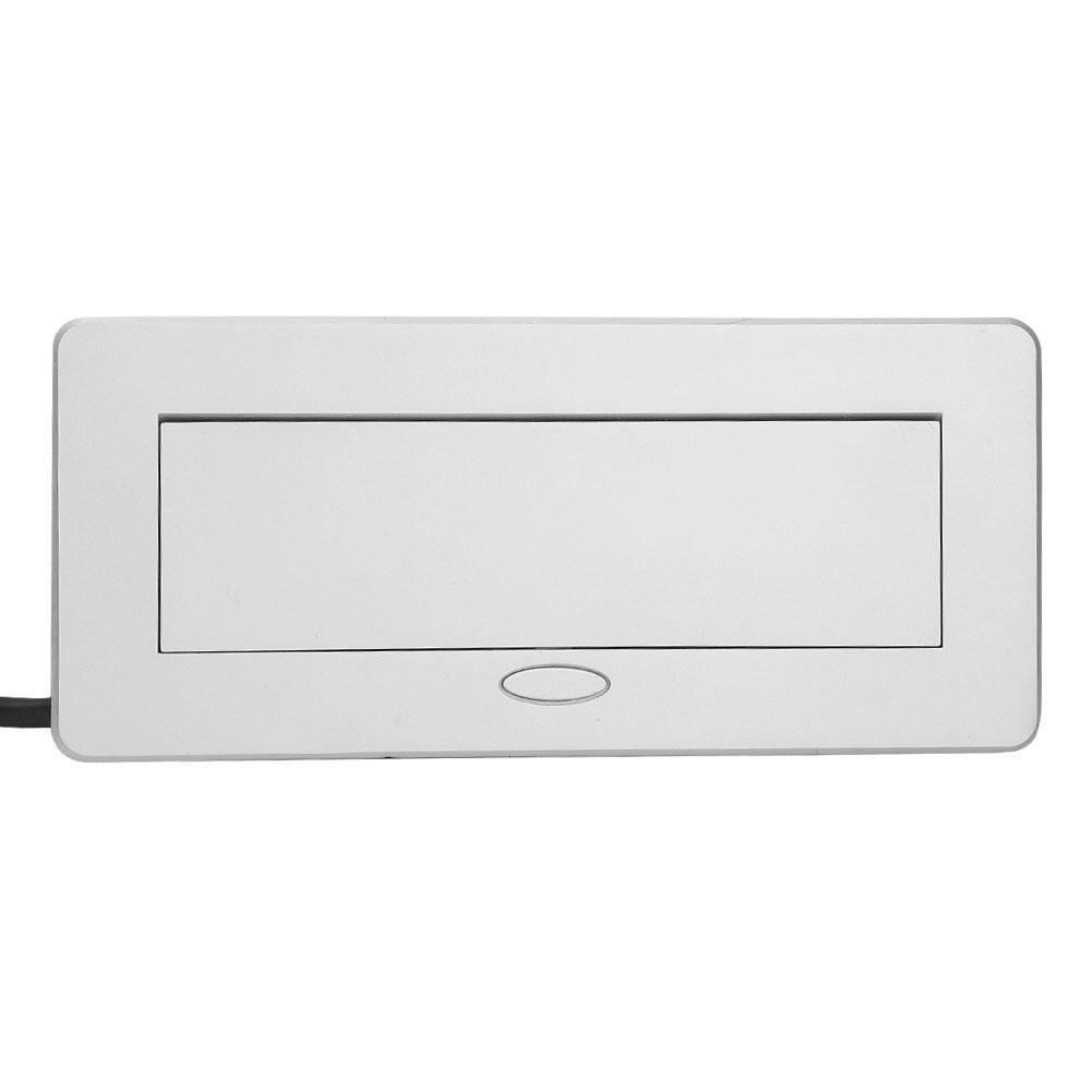 Double prise de Charge USB prise murale Table US prise en acier boîte 100 V-240 V en alliage de Zinc mur US prise panneau - 6