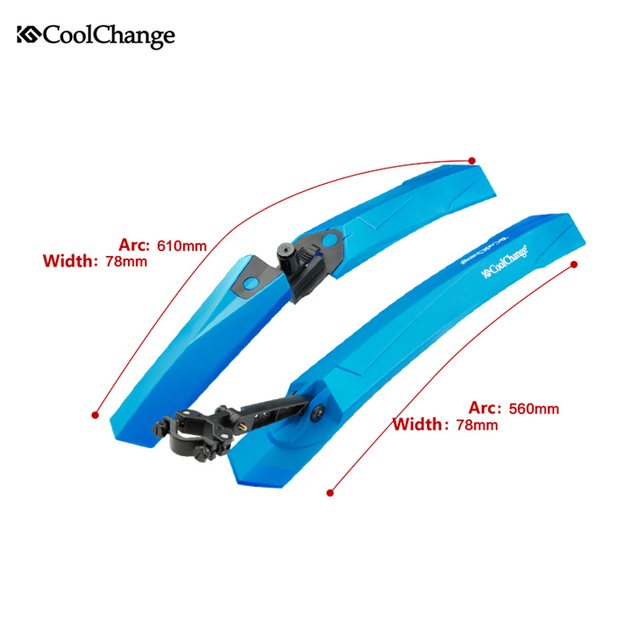 CoolChange Bike Fender Bicycle Fenders Cycling Mountain Mud Guards Mudguard Set 4Colors